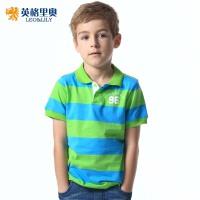 英格里奥童装男童儿童短袖条纹T恤POLO衫LLB9201