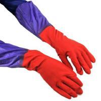 普润 加长接袖双层内毛绒保暖防水手套 橡胶手套 JJD29