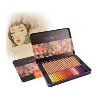 MARCO彩色素描铅笔套装马可3100TN 24色 36色 48色雷诺阿 彩色铅笔 铁盒油性彩铅