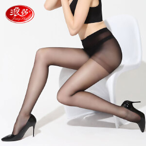 浪莎丝袜子 空姐性感绢感觉加裆连裤袜长筒袜子超薄丝袜 打底裤袜