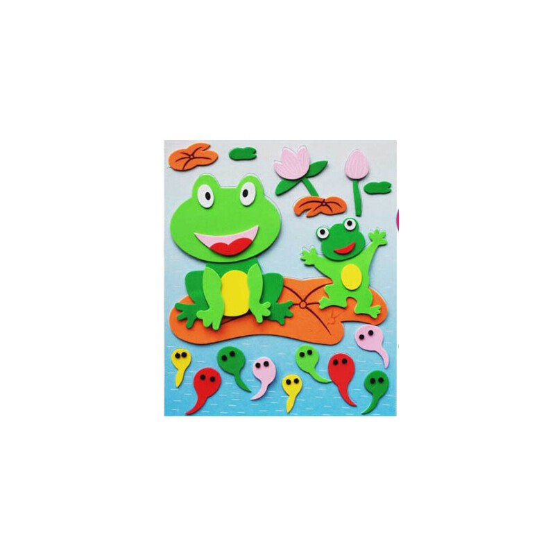 日照鑫 3d海绵立体粘贴拼图 海绵纸 儿童手工贴画 益智玩具 随机发货