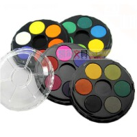 澳洲蒙马特圆形固体水彩24色套装 透明水彩 四层圆饼设计