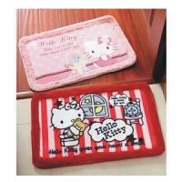 日照鑫 hello kitty 凯蒂猫卡通可爱短绒防滑地垫 门垫地毯飘窗坐垫  1个装