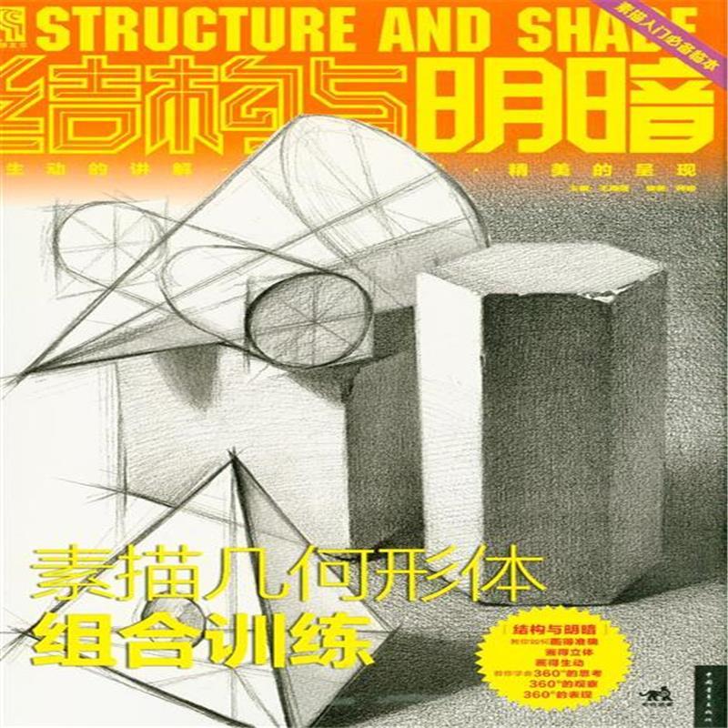 《结构与明暗-素描几何形体组合训练》王海强
