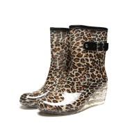 【支持礼品卡支付】女士雨靴平底坡跟时尚雨鞋韩版女中筒高跟水鞋
