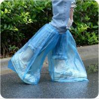 高筒一次性鞋套 加厚塑料男女士防雨鞋套 防滑雨天防水鞋套
