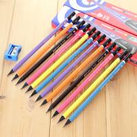 MARCO马可9008黑木三角杆铅笔 HB 学生铅笔  内赠卷笔器 HB12支1盒