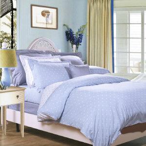 [当当自营]富安娜家纺纯棉四件套1.5米1.8米床印花套件 玻璃球 浅蓝 1.5m