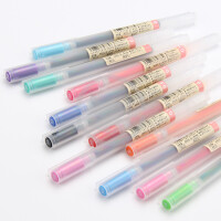 香港直采 日本原装MUJI 无印良品文具 防逆流胶墨笔 中性水笔 签字笔0.5MM
