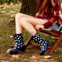 女士雨靴高筒超酷帅气搭扣红拉链军靴雨鞋水鞋水靴马靴