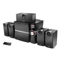 Edifier/漫步者 C6XD 蓝牙5.1光纤家庭影院音响 木质低音炮电脑音箱