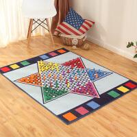 【包邮】享家 休闲地毯 跳棋 100*130厘米 亲自游戏毯 爬行毯 客厅卧室儿童娱乐毯