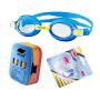 捷佳 儿童泳镜3件套装 泳镜套装 儿童游泳用品漂浮板