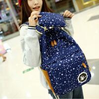 芭特莉【支持礼品卡支付】双肩包新款星星双肩包休闲包背包女帆布韩版中学生书包旅行包WM1180