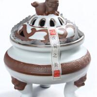 尚帝 茶具配件-汝窑开片可养 陶瓷香炉BH2014-244A