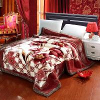 拉舍尔毛毯加厚春秋单人双人珊瑚绒毯子双层冬季被子结婚学生盖毯