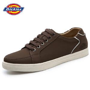 Dickies男鞋真皮低帮板鞋简约系带圆头运动休闲鞋161M50LXS58
