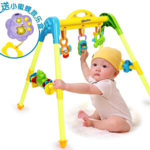 橙爱 快乐成长音乐健身架 新生婴儿健身器带摇铃 宝宝站立健身器玩具 婴儿玩具0-1岁
