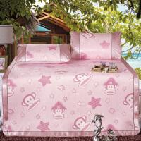 夏凉席三件套冰丝席1.8米折叠1.5m单人学生席子卡通1.2米空调席两件套