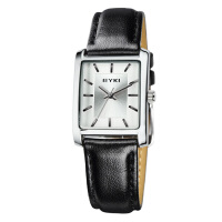2017新款 EYKI艾奇 时尚简约方形表盘 个性商务皮带情侣对表 复古时装手表 8618