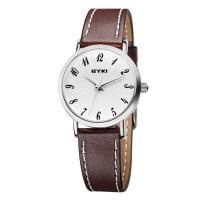 2017新款 EYKI艾奇 韩版时尚简约数字表盘 清晰刻度 个性潮流皮带情侣手表 时装表 8708