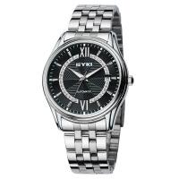 EYKI艾奇 商务休闲钢带男表 镶钻表盘 日历显示 时尚潮流夜光手表 个性时装手表8709