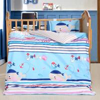 纯棉幼儿园被子三件套卡通全棉春夏季午睡秋冬儿童床品套件不含芯