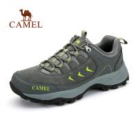 camel骆驼户外登山徒步鞋 男女士情侣款低帮减震透气徒步鞋