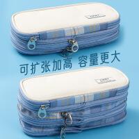 韩国文具可爱创意大容量笔袋 简约男女学生笔盒 拉链卡通文具盒
