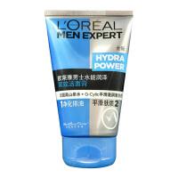欧莱雅    男士水能润泽双效洁面膏100ml 洁净皮肤 改善粗糙