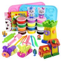 橙爱 彩泥 我的缤纷乐园超轻粘土3D 儿童手工玩具 橡皮泥创意太空泥 环保安全 儿童玩具礼物