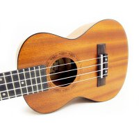 支持货到付款-Vorson ukulele 尤克里里  超薄琴身 小四弦琴  23寸 乌克丽丽  夏威夷小吉他 初学适用  黑色包边 音孔处激光雕刻  沙比利背侧板 玫瑰木指板 U-2 送(琴套+3个匹克+教程一本)尤克里里(总...