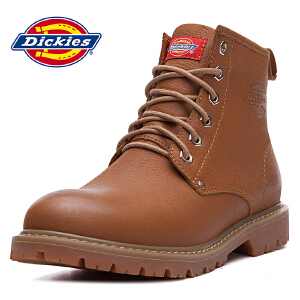 Dickies 2016新款男士高帮休闲鞋潮流透气耐磨工装靴 163M50LXS25