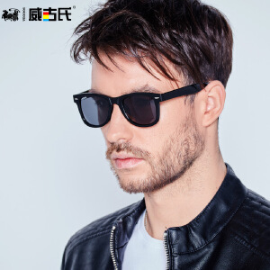 威古氏 男款防紫外线眼镜大框修脸偏光太阳镜墨镜男女士驾驶镜6106