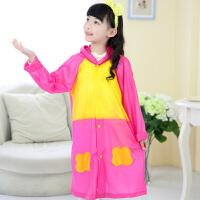 龙豹 LB-R001 儿童珠光雨披 小学生连体儿童雨衣时尚可爱加厚带书包位