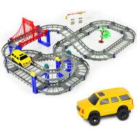 橙爱立昕 梦幻组合轨道汽车 电动轨道车 儿童玩具车 车模玩具