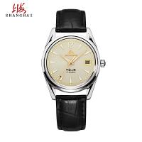 上海牌手表指针式 大三针简约复古机械表 经典纪念款510防水男表