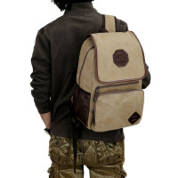 【支持礼品卡支付】学生书包双肩包背包学生包学院风双肩背旅行包帆布包