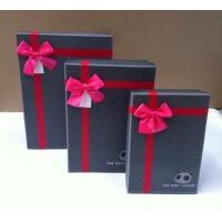 好吉森鹤长方形礼品盒1套3个装大的尺寸33*24.5*10CM/个硬纸盒/包装盒  颜色随机(深色)1套3个+送品213