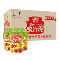 【当当自营】亨氏 Heinz乐维滋果汁泥-2+2苹果草莓番茄胡萝卜120g*24/箱 宝宝辅食