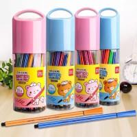 创意文具真彩可水洗水彩笔 12 18 24 36色 桶装水彩笔