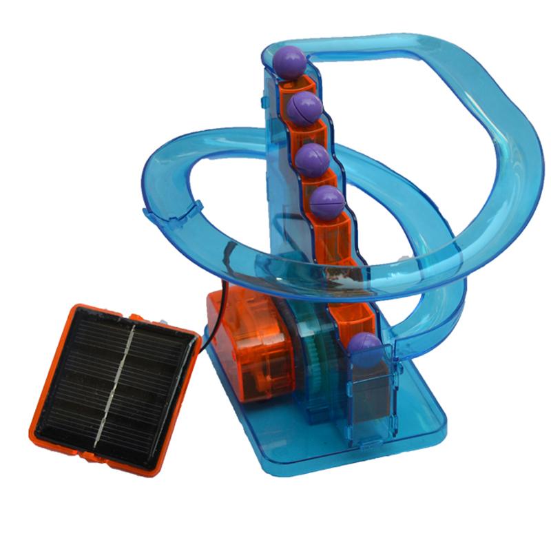 新阳光 diy手工制作 科教实验 创意玩具 太阳能拼装 轨道球
