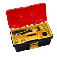 卡秀 双层工具箱 多用收纳箱 多功能塑铁工具箱
