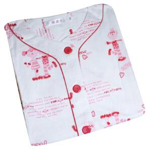 金丰田女士夏季短袖纯棉卡通睡衣家居服套装1028