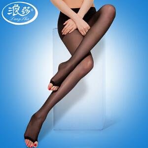 浪莎丝袜 女士超薄款包芯丝加裆连裤袜 舒爽露趾袜 鱼嘴袜子女 打底裤袜3条