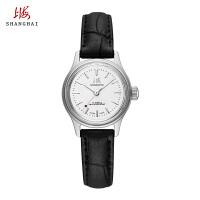 上海牌手表防水 女士机械表腕表 经典怀旧复刻版561真皮皮带女表