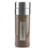 希诺 办公杯 不锈钢 真空保温杯 茶杯 耐磨 360ml 深咖啡色