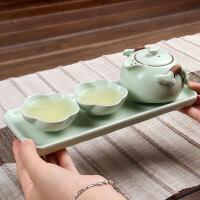 尚帝  汝窑茶具带托盘4件套SD150628A