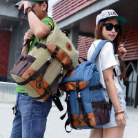 旅行包情侣包男包女包学生书包双肩包帆布包休闲背包