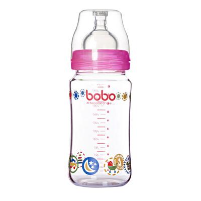 【当当自营】乐儿宝(bobo) 玻璃奶瓶240ml 红色 IBP526-R